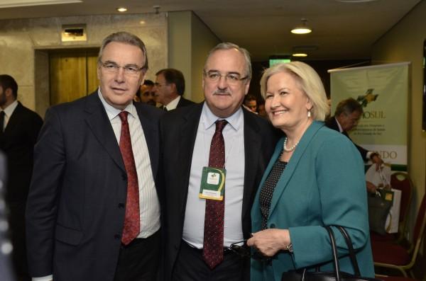 Celso Bernardi (Presidente do PP/RS) Pedro Westphalen e Ana Amélia Lemos (Senadora pelo PP)