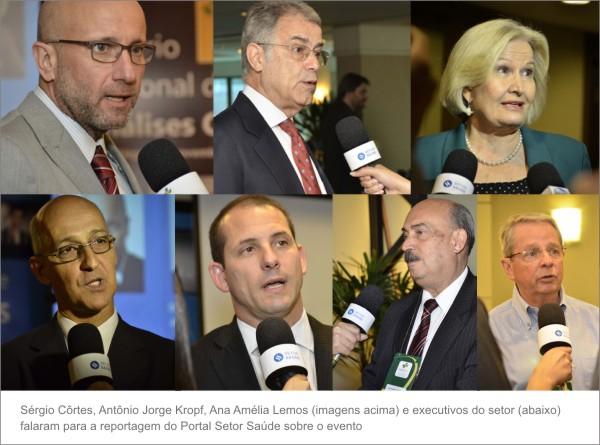 Lideranças do setor saúde em evento_entrevistas