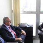 Presidentes da FEHOSUL e Sindihospa se reúnem com o Secretário de Transportes