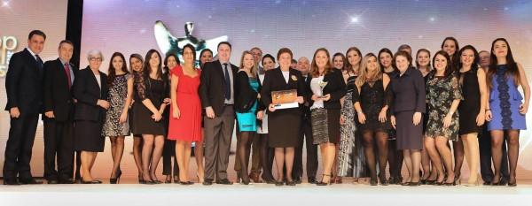 Equipe Mãe de Deus na premiação da ABRH