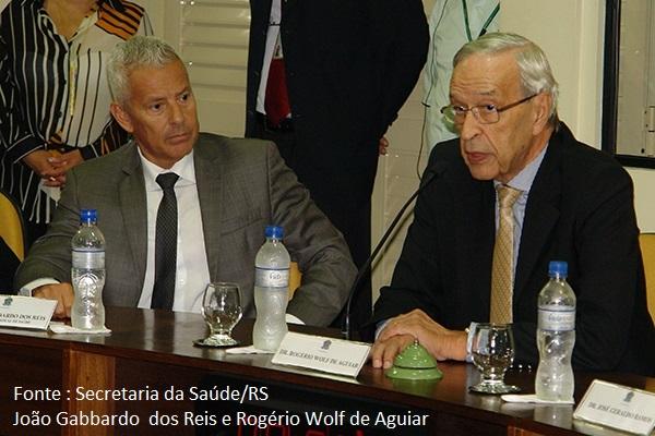 Gabardo e Rogério Wolf
