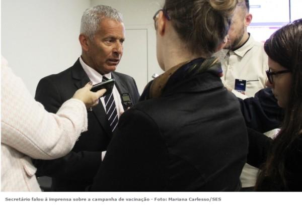 Secretaria da Saúde do RS comemora sucesso na campanha de vacinação