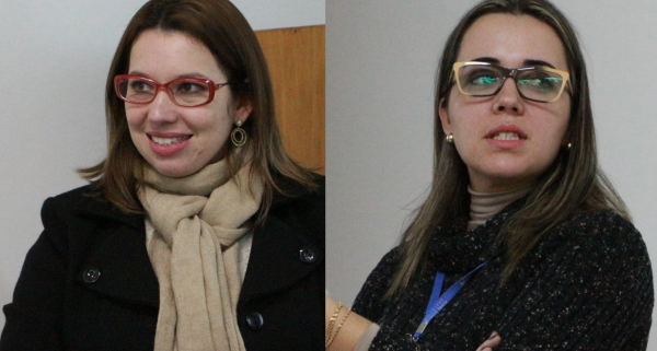 Psicóloga Cristine Benetti e a Gerente Administrativa de RH Carina Reichert