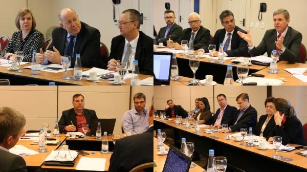 Lideranças em encontro da FEHOSUL, que contou com palestra do presidente e diretor executivo da FEHOSUL