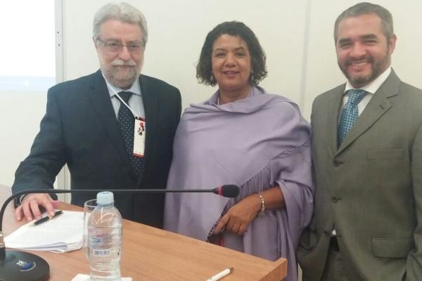 Cesar Fernandes da Febrasgo, Kleyde Ventura da Abenfo), junto ao diretor da ANS Rodrigo Aguiar
