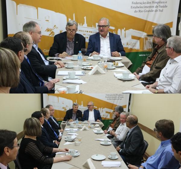 Heinze e Westphalen discutem com dirigentes da FEHOSUL