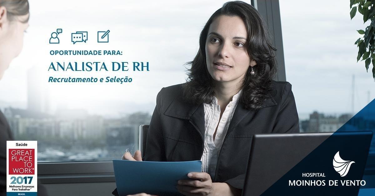 Analista de RH – Hospital Moinhos de Vento Hospital Moinhos de Vento (Porto  Alegre) RS 7cfb61f52859f