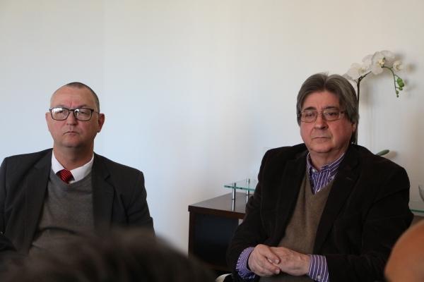 Ricardo Minotto (Divina Providência) e Cláudio Allgayer (FEHOSUL)