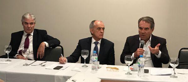 Sérgio Ruffini, Cláudio Seferin e Francisco Balestrin (Presidente do CBEXs)
