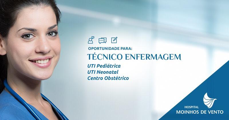Estamos com oportunidades para Técnico de Enfermagem em UTI Pediátrica c1095fb8bc084
