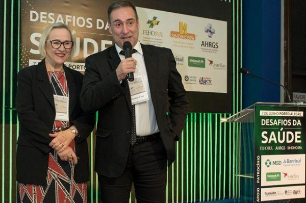 Arita Bergmann e Eduardo Elsade