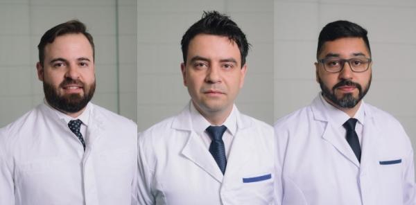 Médicos Cristhopher Lucca Stoffel, Gilberto Nascimento e Everton de Lima