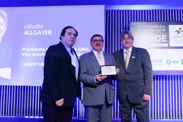 Thiago Duarte, Odacir Rossato e Cláudio Allgayer