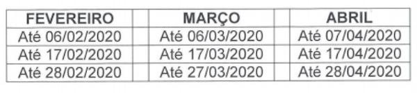 Calendario_Pagamentos_IpeSaude_2020