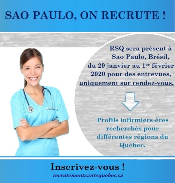 Recrutadores do Canadá vêm ao Brasil em busca de enfermeiros_