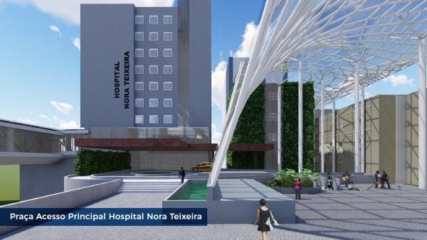 Hospital Nora Teixeira: Praça de Acesso Central