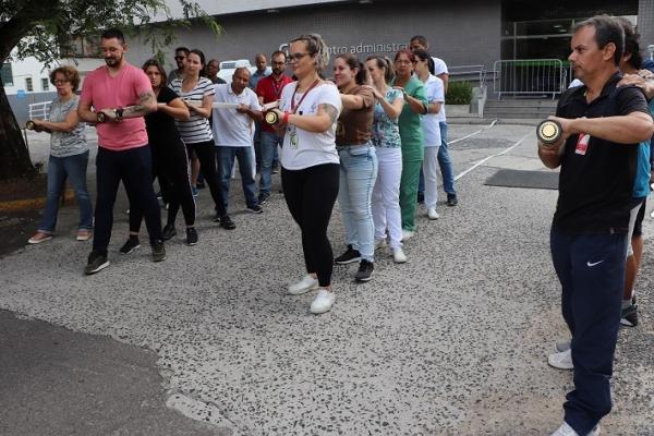 Colaboradores do Grupo Hospitalar Conceição participam de treinamento para Brigada de Incêndio_
