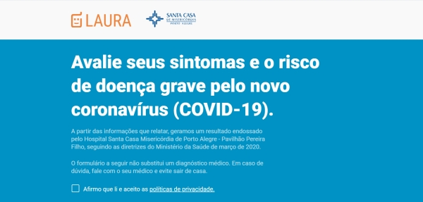 Santa Casa lança inteligência artificial inédita no RS para triagem virtual de covid-19_