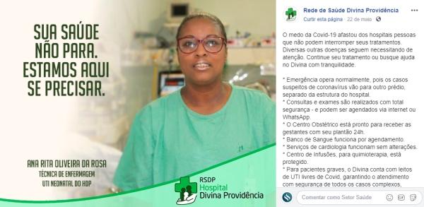 Hospital Divina Providência e as ações para garantir a saúde dos pacientes não Covid-19 durante a pandemia_