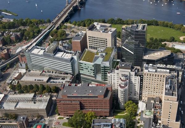 Hospitais da Massachusetts General Hospital e MassGeneral Hospital for Children são colados um no outro
