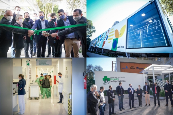 Novo Hospital SUS construído em apenas 30 dias inicia operação em Porto Alegre