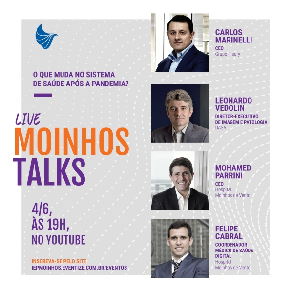 Segunda edição da Live Moinhos Talks