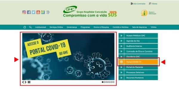 GHC lança portal de transparência com dados e informações sobre as ações de enfrentamento ao Covid