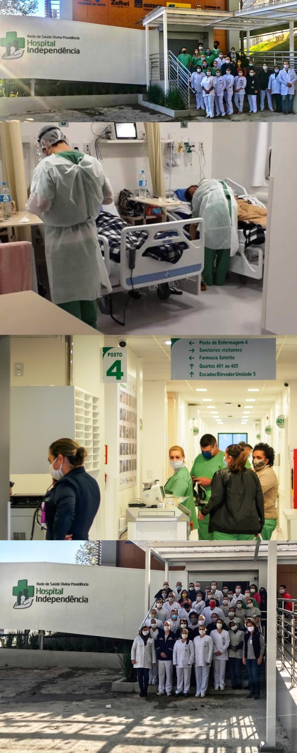 Módulo Covid do Hospital Independência completa um mês de atividades com quase 100 atendimentos_
