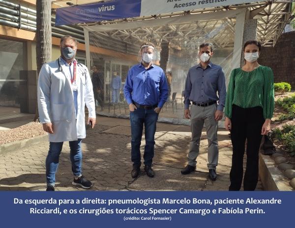 Paciente curado de Covid que recebeu suporte de circulação extracorpóreo tem alta naSantaCasade Porto Alegre_