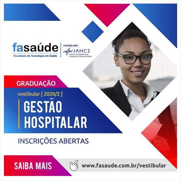 Vestibular para a graduação em Gestão Hospitalar está com inscrições abertas600