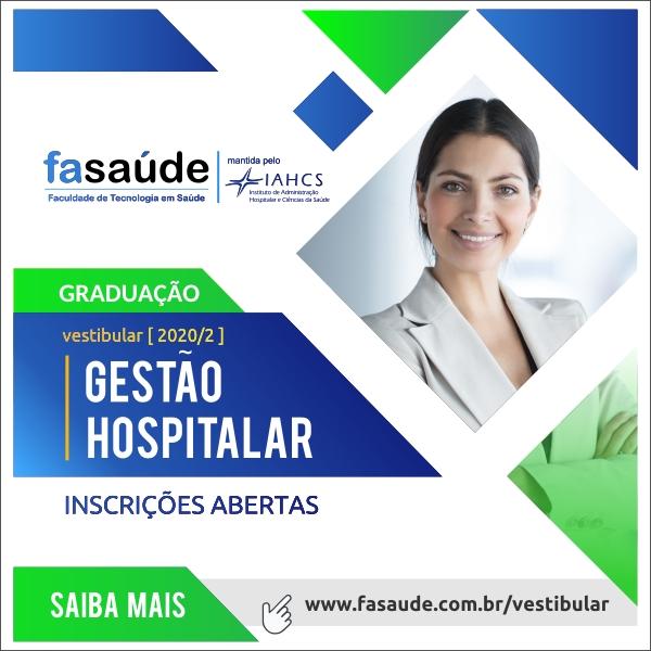 Vestibular para a graduação em Gestão Hospitalar está com inscrições abertas6001