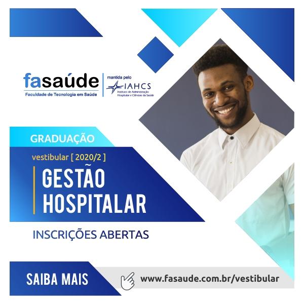 Vestibular para a graduação em Gestão Hospitalar está com inscrições abertas60012