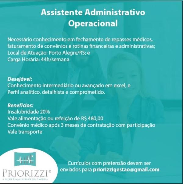 Analista Administrativo Operacional