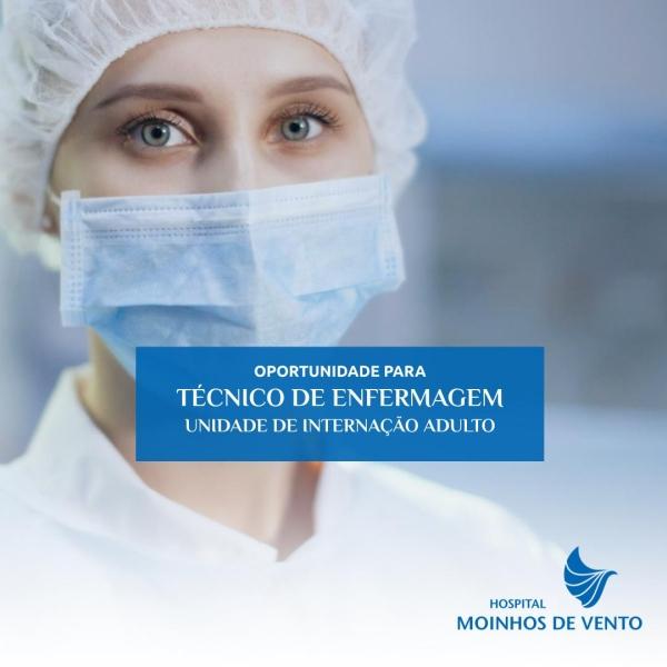 tecnico enfermagem hospital moinhos emprego