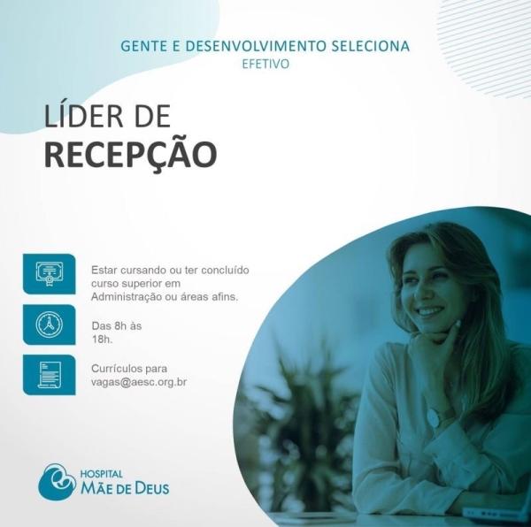 Líder de recepção - Centro de Diagnóstico por Imagem