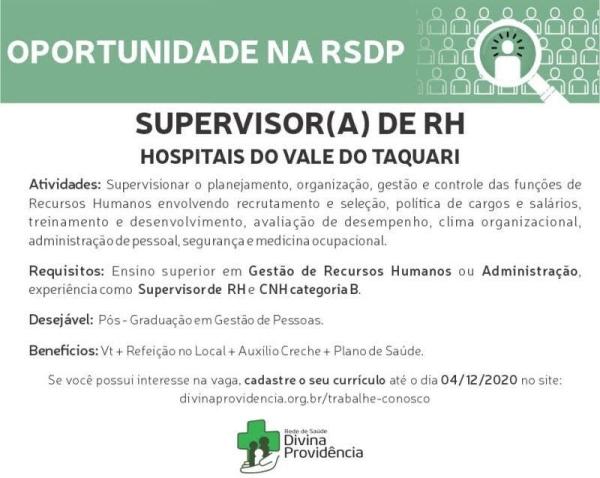 supervisor RH hospital