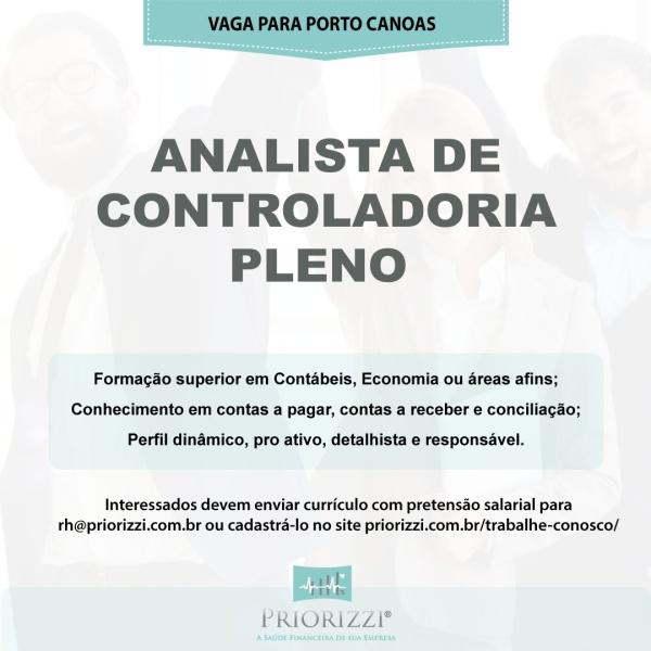 Analista de Controladoria Pleno