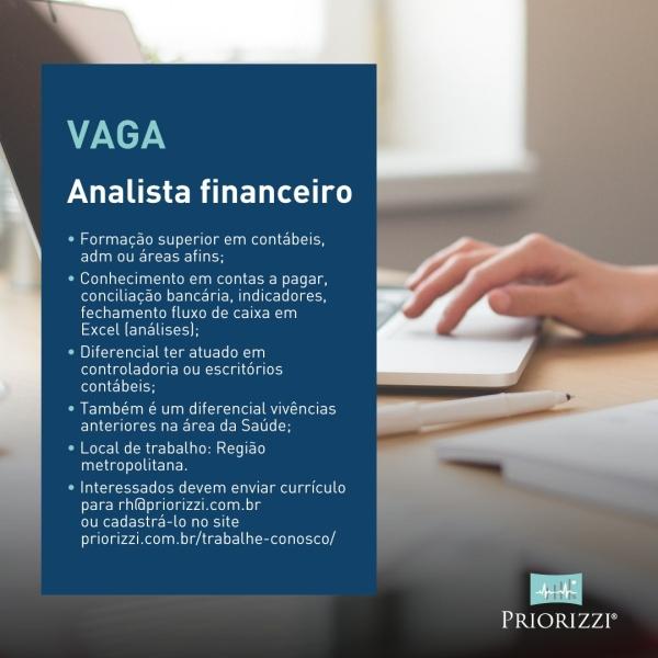 Analista Financeiro Vaga