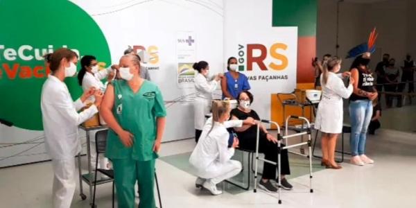 Rio Grande do Sul inicia vacinação contra a Covid-19_