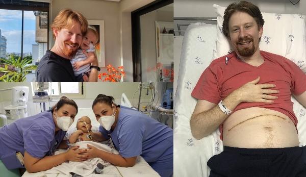 Pai doa parte do fígado para filho de quatro meses com grave doença genética_