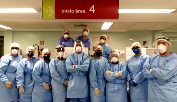 Profissionais do Hospital Conceição reinventam a utilização do roller para facilitar manobra de pronação