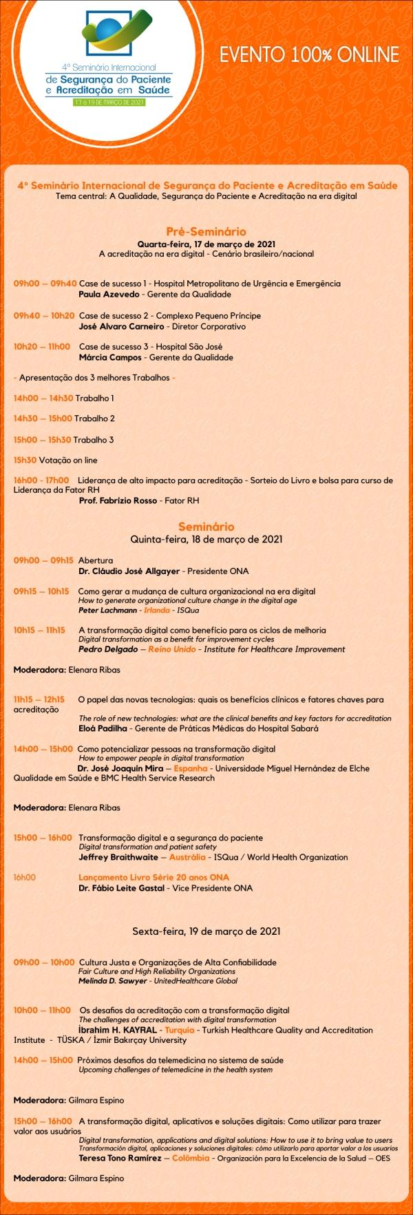 Seminário Internacional de Segurança do Paciente e Acreditação em Saúde