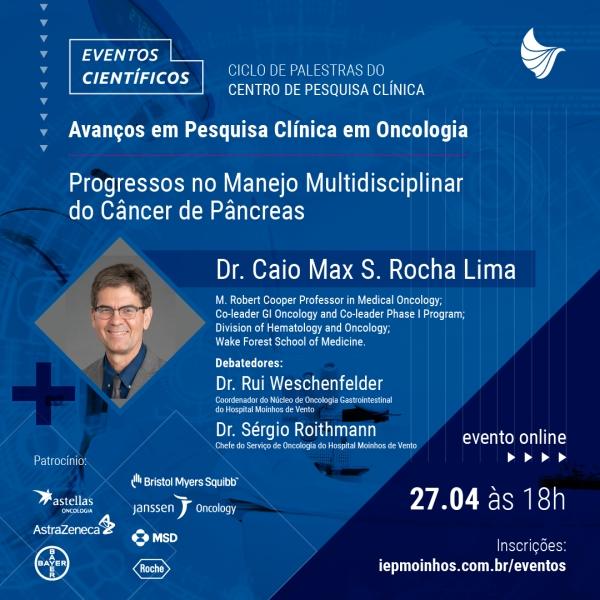 Manejo Multidisciplinar do câncer de pâncreas é tema de palestra promovida pelo Hospital Moinhos