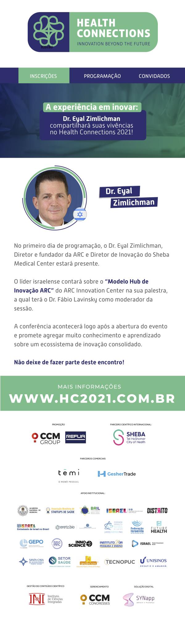 Tecnologia, inovação e empreendedorismo na área da saúde é tema do Health Connections 2021