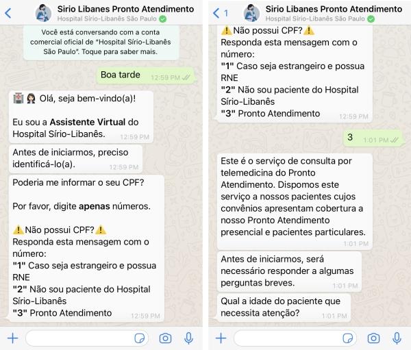 Hospital Sírio-Libanês de São Paulo passa a oferecer Pronto Atendimento por telemedicina-