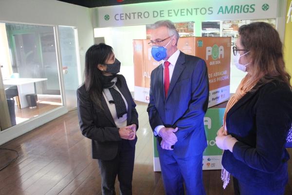 Inaugurado na AMRIGS ponto de coleta da campanha POA que DOA-