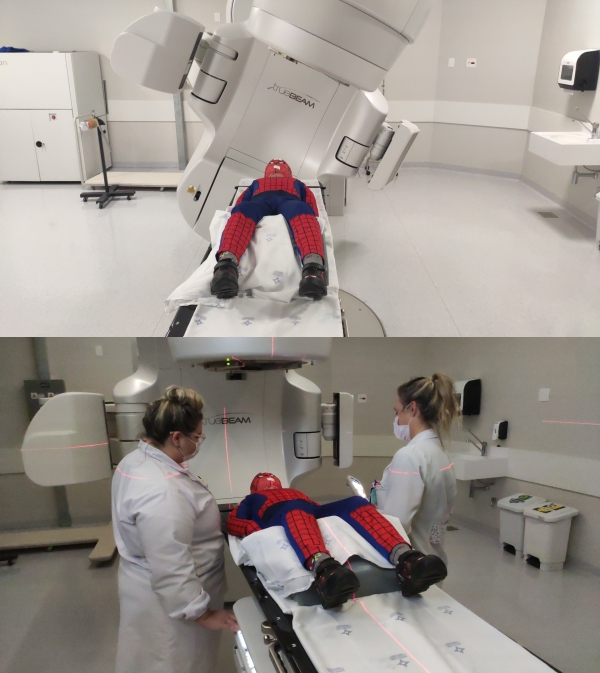 Menino de oito anos enfrenta sessões de radioterapia vestido de Homem-Aranha-