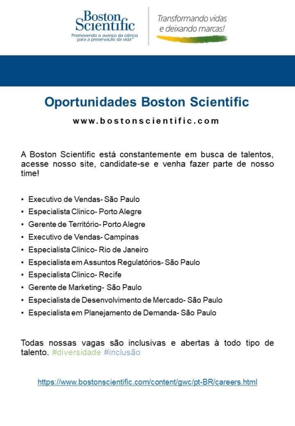 bostons cientific vagas