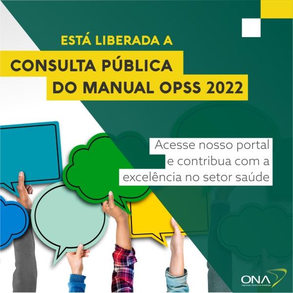 Consulta Pública Manual OPSS 2022