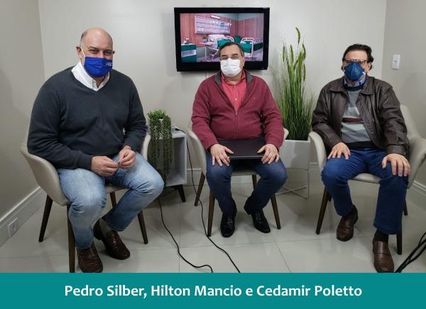 Pedro Silber, Hilton Mancio e Cedamir Poletto